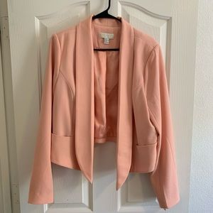 Forever 21 plus size 2X peach pink high low blazer